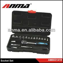 18pcs promotional professional auto repair socket tool kit