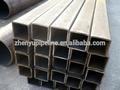 Rectangular de acero tubo de tamaño