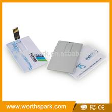 1GB, 2GB, 4GB, 8GB, 16GB credit card usb flash drive custom usb flash drive with 4C printing and customized packing box