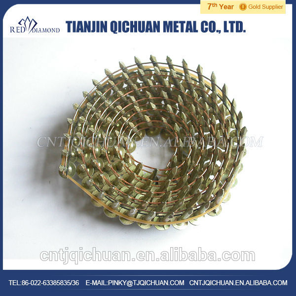 Factory directly supply galvanized hardened stainless steel nail with flat head