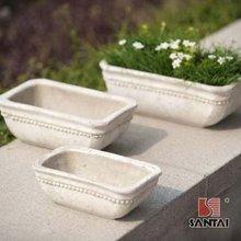 Antique terracotta flowerpots and planters