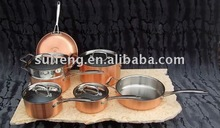 stainless steel cookware set/10 sets copper pan