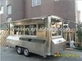 Móvil carros de comida/remolque/móvil kiosco de venta de carros de bocadillos