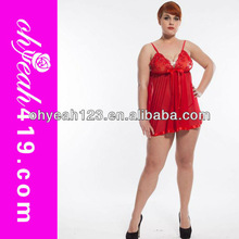 Plus size top end red no moq latest design charming sexy fat women babydoll