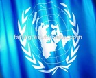 the United Nations flagexquisite polyester the United Nations flag