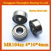mini deep groove ball bearing MR104 MR104zz 4x10x4mm scooter cover