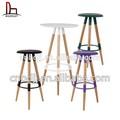 Mdf top plástico barato usado modern ikea projetado metal barra de madeira cadeiras de mesas de bar bancos de bar