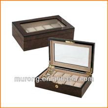 10slots wood watch display case