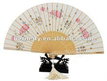 custom design chinese folding bamboo fan for gift