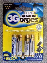 LR03 golden power aa alkaline battery