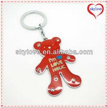 fashion metal rhinestone teddy bear keychain any colors available
