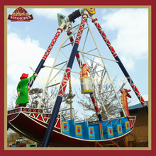 Interesting theme park rides outdoor equipment pirate ship