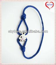 fashion diy adjustable cotton cord bracelet