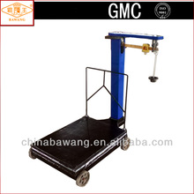 Brass Ruler KG & LB Unit Square Pillar Mechanical Platform Weighing Scale with Wheels with Rail for 300kg 500kg 1000kg TGT-S