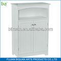 bq branco madeira de móveis de casa de banho com porta dupla