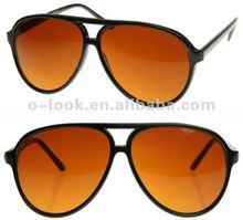 Retro vintage 80years Full Blue Blocking Sports Lens Large Plastic Aviator Sunglasses