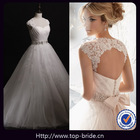 41201 Romantic Swaroski Crystal Sash With Wraps Bridal Dresses