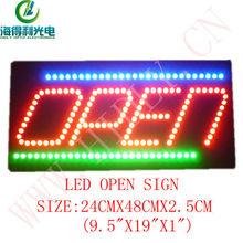 24*48cm size hidly low power consumption open led sign letter
