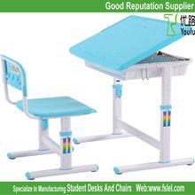 ergonomic adjustable kids plastic study table for children