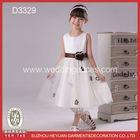 brown flower petal tulle girls puffy dresses for kids