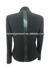 China Wholesale C/B Snake Panel Fashion women Coat 2014