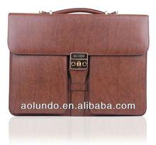 Top quality leather mens executive briefcase bag
