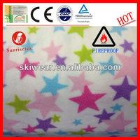 100% Polyester Keeping Warm Train Printed Fleece Fabric