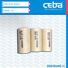 Nickel Cadmium Batteries 1.2V SC1800 1800 mah