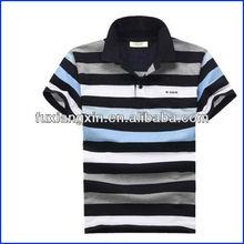 custom men fashion stripe elegant polo Tshirt