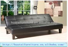 New Design Black Faux Leather PU Sofa Bed SFC-005