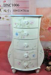 DNC1006 Elegent flower wood storage cabinet