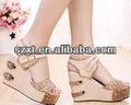 damas de alta moda sandalias de tacón alto 2014 sandalias de tacón de nueva imagen modelo las mujeres sandalias de cuña 2014