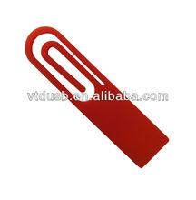 Compact plastic cute red mini paper clip USB 2.0 flash drive drives driver/disk/memory/pendrive/stick 4GB promo gift