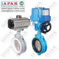 Lpb14 mariposa de la oblea de la válvula con actuadores neumáticos o eléctricos, la garantía de calidad