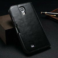 Classical wallet leather case for samsung galaxy s4 soft tpu cover for i9500 flip case for samsung galaxy s4 with stand function
