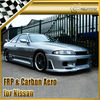 For Nissan Skyline R33 GTST JUN Style Full Body Kit Bumper Side Skirt