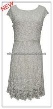 woman elegant lace fancy dress pure white slim fit party/evening wear sex women's fashion dresses