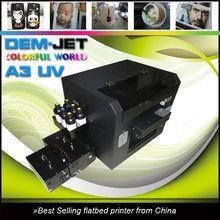 A3 uncoating uv inkjet printer & led uv printer price
