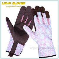 Flower Pattern Waterproof Garden Gloves for Gardening Works