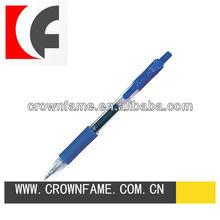Retractable blue fine point gel pen