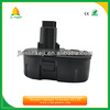 high quality dewalt 18v nicd nimh battery for dewalt power tool DC9096 DE9095 DW9091 DW9096 with CE&ROHS
