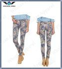 women floral print skinny jeans pant,los pantalones vaqueros jadean
