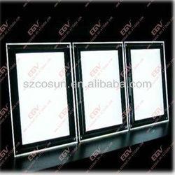 ed light frame, led light poster/acrylic sheet light poster frame