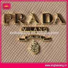 metal stamping logo, handbag wallet metal badge logo plate,metal brand logo