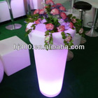 high quality solid colorful vase with RGB led inside