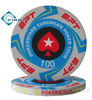 10g EPT ceramic poker chips in different values and colors