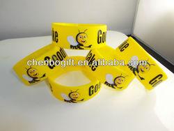 Color printing silicone bracelet, soft rubber silicone straps