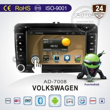 Volkswagen 2 din 7' Car DVD Player with AUDIO,VIDEO,RADIO,IPOD,MAP,SD card,RDS,GPS,BLUETOOTH