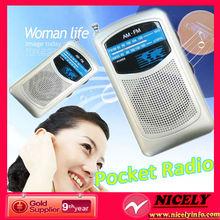 2014 Hot selling AM/FM mini portable radio