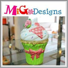 ceramic custom logo printed jewelry boxes unique ice cream shaped